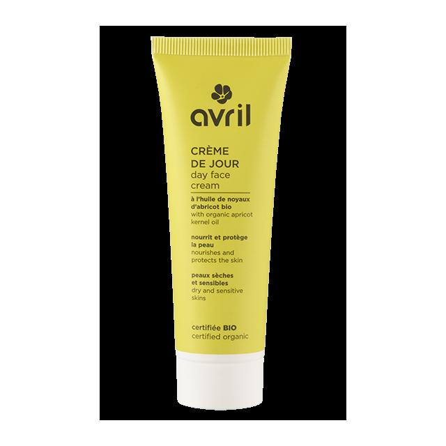 Crème de jour peaux sèches et sensibles  A l'huile de noyau d'abricot - 50ml - Certifié bio