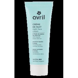 Crème de nuit peaux normales et mixtes - 50 ml - Certifié bio